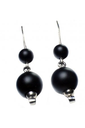 Bela Donaco Oorbellen Black Dress - Sterling zilver en Onyx