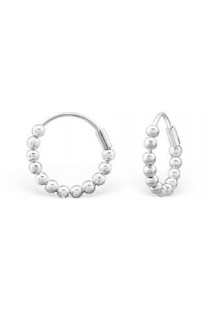 Circles 12mm Silver Ear Hoops | 925 Sterling Silver