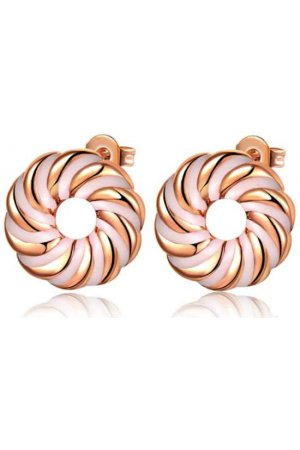 Fashionidea - Pink Donut Earrings