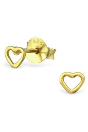 Heart Studs | Gold Plated