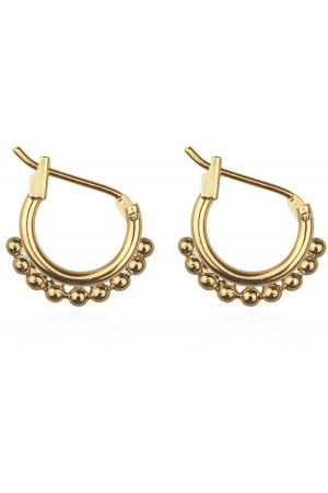 Klein Round Drop Hoops goud