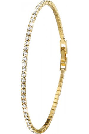 Lucardi - 1920 Vintage - Goldplated armband white crystals