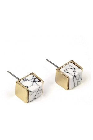 Marble gold cubes