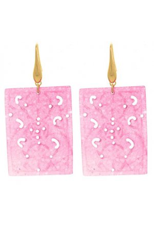 PINK GLASS RECTANGLE