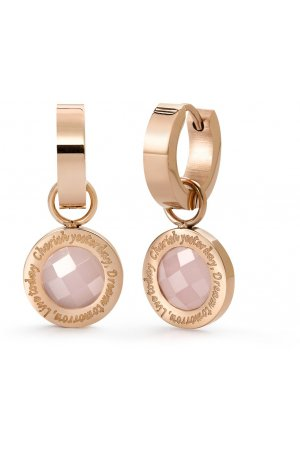 Speechless Jewelry Earrings Creolen - Cherish yesterday, Dream tomorrow, Live today - Staal Rosegoud Verguld